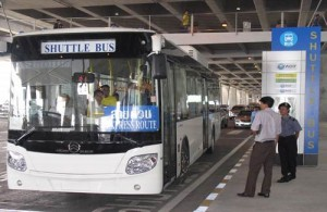 De Airport Shuttle Bus Service is een gratis servicedienst van de Airports of Thailand (AOT).