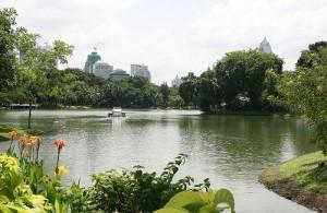 Het Lumpini Park is het groene hart van Bangkok.