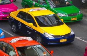 Bangkok heeft een gigantisch aanbod van taxi's.