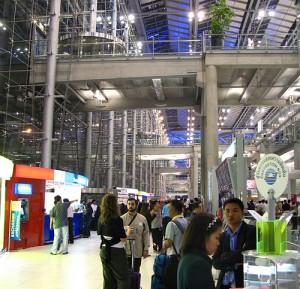 De meeste bezoekers komen in Thailand aan op het vliegveld van Bangkok.