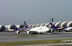 Suvarnabhumi International Airport is het belangrijkste vliegveld in Thailand.