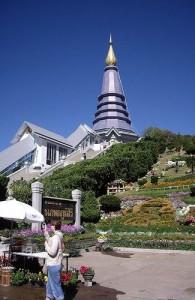 De King's Chedi is een van de geweldige Chedi's bij de top van de Doi Inthanon.