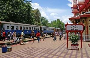Het treinstation van Hua Hin ligt dicht bij het centrum.