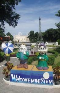 In Mini Siam staan meer dan 100 nagebouwde modellen.