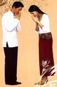 De Thai begroeten elkaar met een 'wai'.