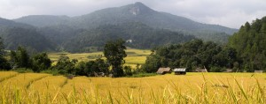 De natuur in het noorden wordt gevormd door een indrukwekkend berglandschap.