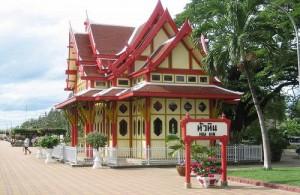 De Royal Waiting Room is gebouwd in Thaise stijl.