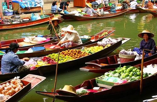 Damnoen Saduak markt » Thailand Totaal Belastingdienst