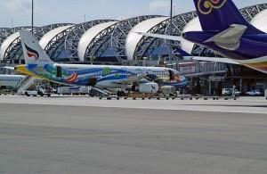 Airport Suvarnabhumi is een van de drukste vliegvelden van Azië.