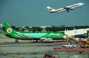 Don Muang Airport wordt ook wel het oude vliegveld van Bangkok genoemd.