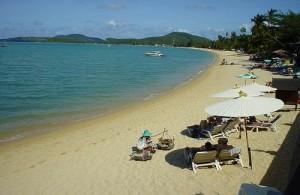 Bo Phut is gelegen in een mooie en beschutte baai.