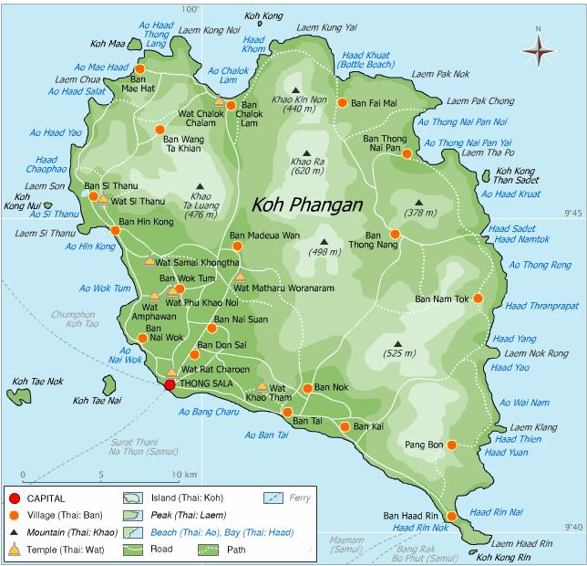 Koh Pha Ngan beschikt over schitterende stranden en baaien.