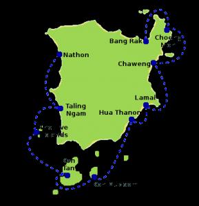 Koh Tan ligt op een half uurtje varen van Koh Samui.