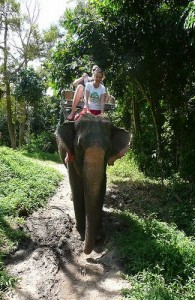 De tweede waterval van Na Muang is ook per olifant te bereiken.