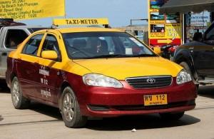 Voor je vervoer op Koh Samui kun je ook de taxi nemen.