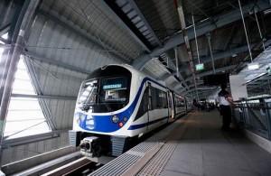 De blauwe City Line maakt onderweg 6 tussenstops.