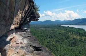 Vanaf de kliffen op Pha Taem heb je een schitterend uitzicht.