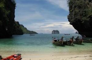 Railay Bay is een nog relatief onbekende bestemming in Thailand.