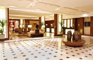Lounge van het President Palace Hotel.