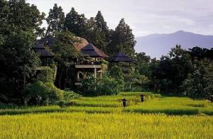Het Four Seasons Resort bij Mae Rim is een zeer exclusieve en luxe accommodatie.