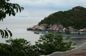 Uitzicht vanaf het Jamahkiri Resort & Spa.