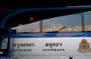 Bussen naar Ayutthaya vertrekken in Bangkok op de Northern Bus Terminal.