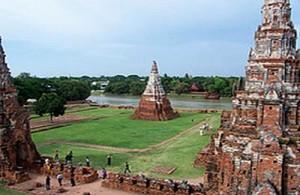 Het historisch park van Ayutthaya staat op de werelderfgoedlijst van UNESCO.