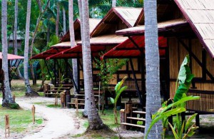 De bungalows van Cocotero Resort The Hidden Village zijn een aanrader voor backpackers.