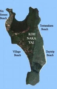 Koh Naka Yai heeft vier belangrijke stranden.