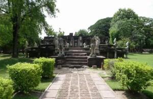 Het Phimai Historical Park gaat terug naar de Khmer periode.