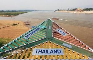 In de Gouden Driehoek komen Thailand, Laos en Birma (Myanmar) samen.