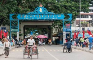 De grensovergang tussen Mae Sai en Tachilek is een populaire visa-run bestemming.