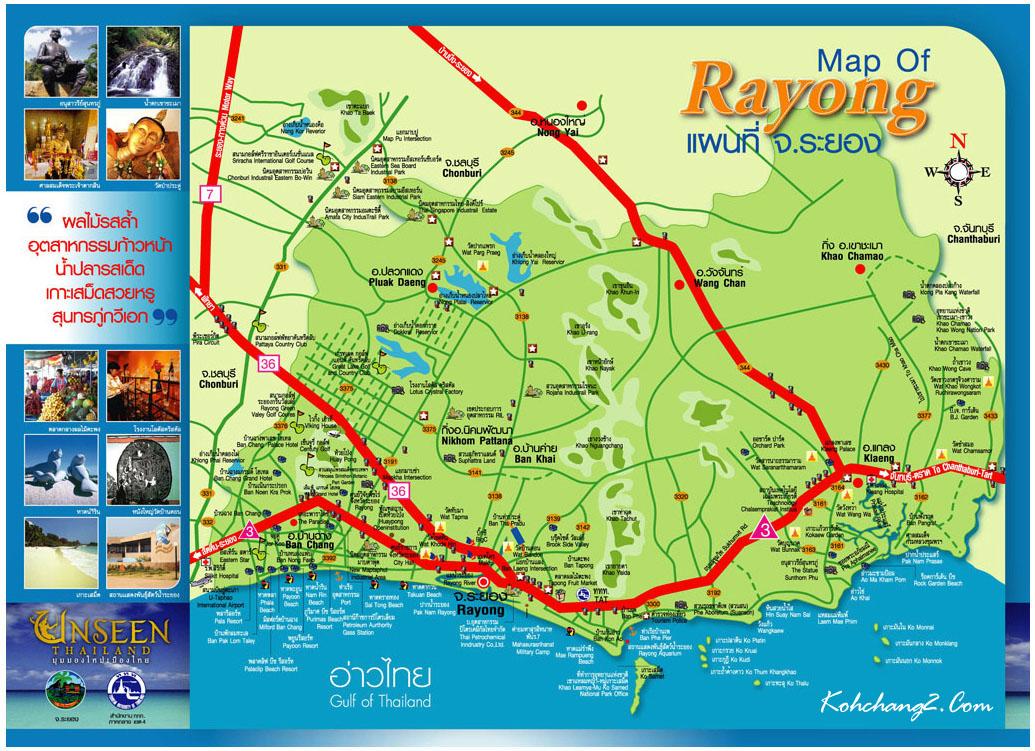 Rayong ligt aan de oostkust van de Golf van Thailand.