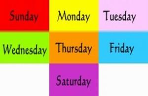 In Thailand heeft elke dag van de week zijn eigen kleur.