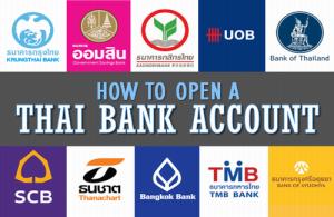 Bij verschillende Thaise banken kun je een bank-account openen zonder dat je over een werkvergunning beschikt.