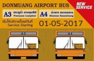 Vanaf 1 mei 2017 heeft de BMTA twee nieuwe Airport Bus routes in gebruik genomen.