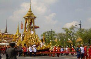 Koninklijke crematie processie van Princess Bejaratana Rajasuda in 2012.