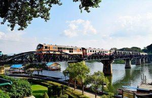 De Bridge on the River Kwai is voor velen het bekendste onderdeel van de Death Railway.